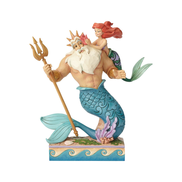 Daddy's Little Princess - Ariel and Triton Figurine - Disney Traditions by Jim Shore