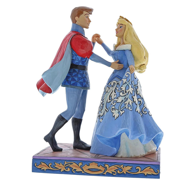 Disney Traditions by Jim Shore Swept Up in the Moment - Aurora & Prince Figurine
