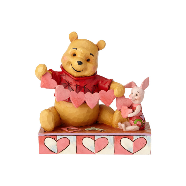 Handmade Valentines - Pooh and Piglet Figurine - Disney Traditions by Jim Shore