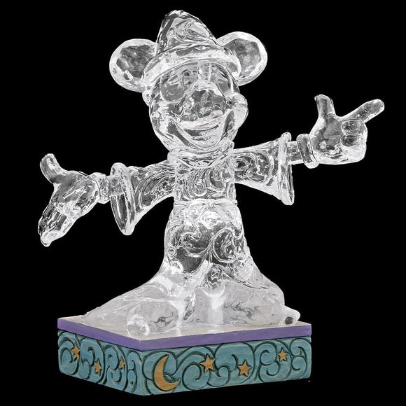 Disney Traditions Ice Bright Sorcerer Mickey Mouse Figurine
