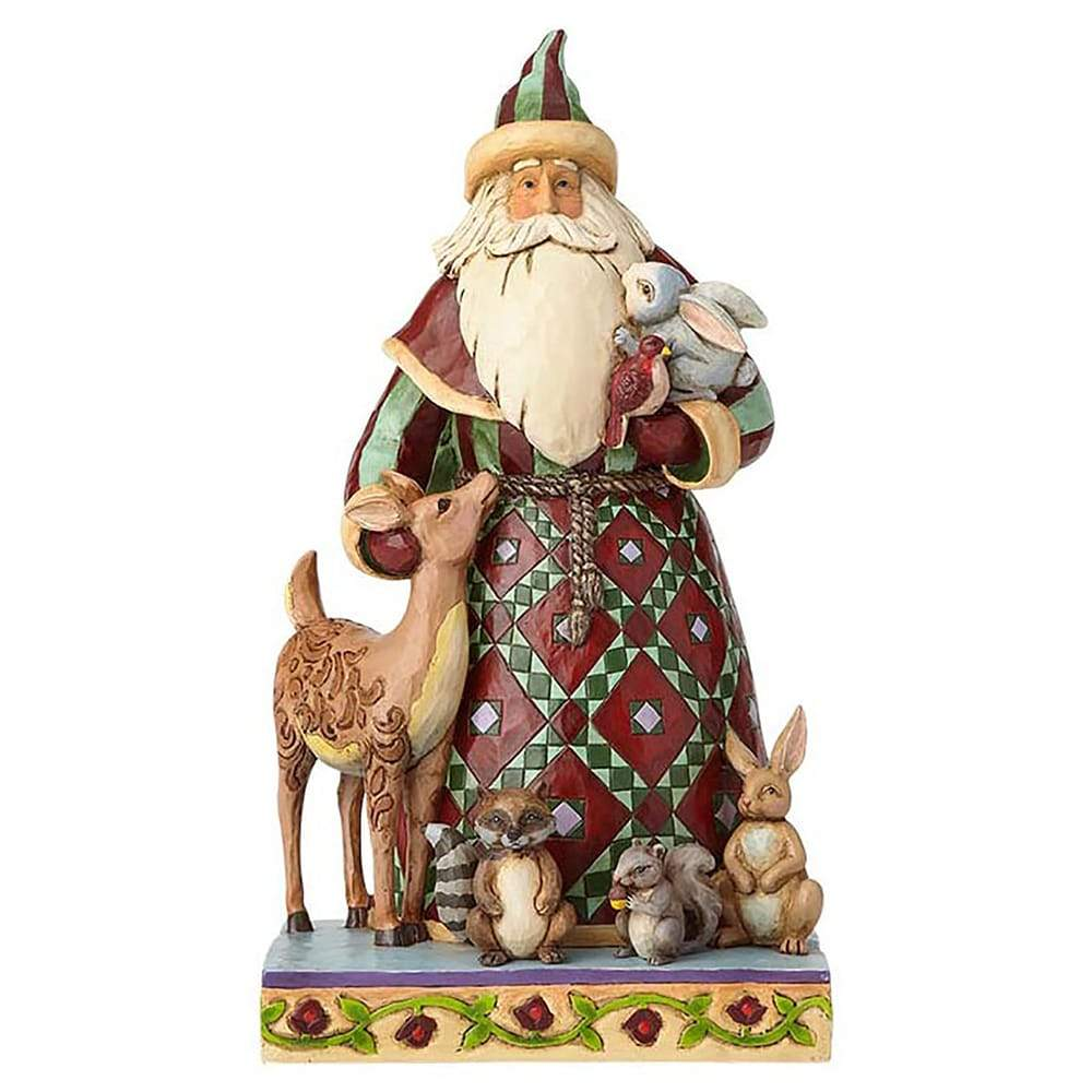 Heartwood Creek by Jim Shore Santa's Creature Comforts (Santa with Woodland Animals Figurine)