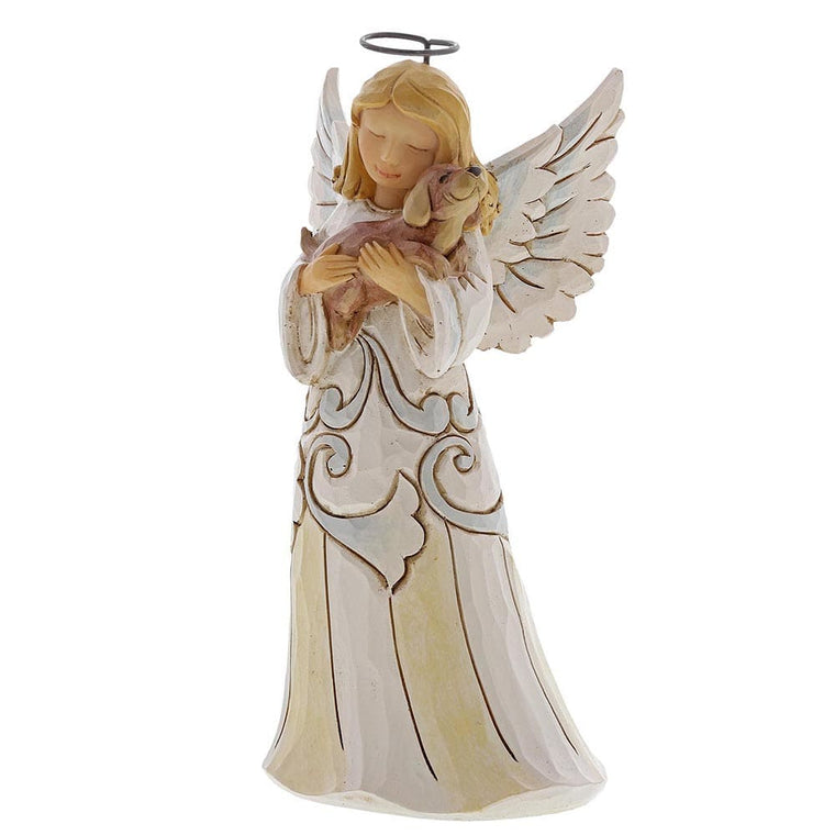 Faithful Friend - Woodland Angel with Dog Pint-Sized Figurine- Heartwood Creek by Jim Shore