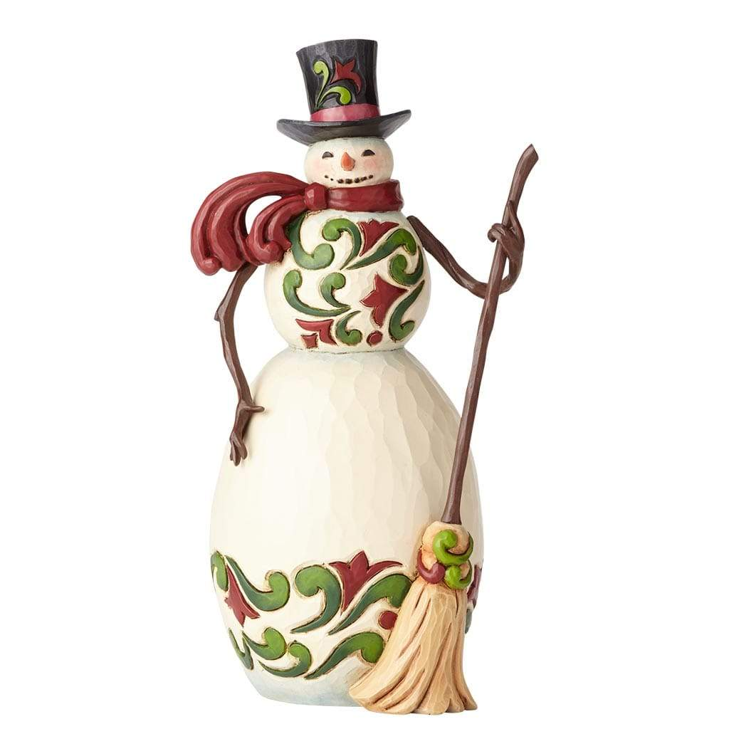 Heartwood Creek by Jim Shore Red and Green Snowman