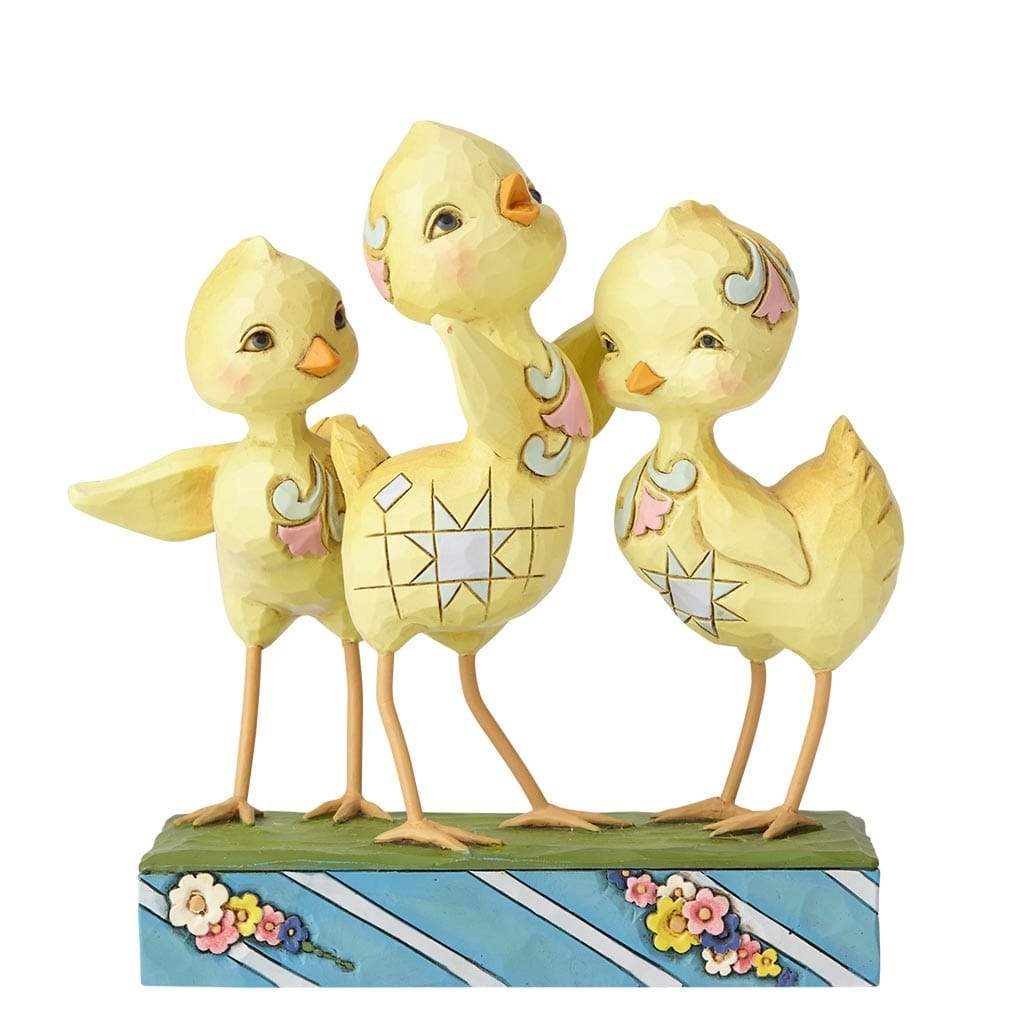 Trio of Chicks Figurine - Heartwood Creek by Jim Shore