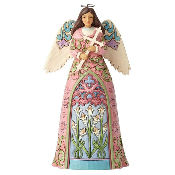 Angel with Cross and Lilies Figurine - Heartwood Creek by Jim Shore