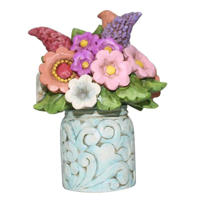 Heartwood Creek by Jim Shore Flower Bouquet Mini Figurine - Website Exclusive