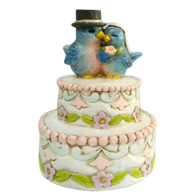 Heartwood Creek By Jim Shore Love Birds on Cake Mini Figurine - Website Exclusive