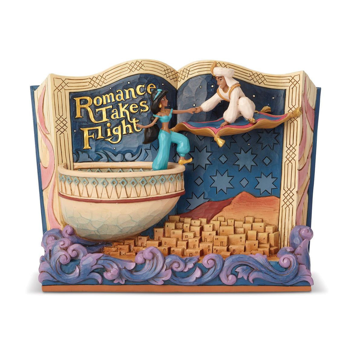 Romance Takes Flight )Storybook Aladdin Figurine)- Disney Traditions by Jim Shore