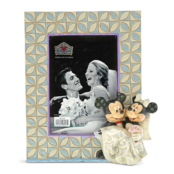 Disney Traditions by Jim Shore Mickey & Minnie Mouse Wedding Photo Frame