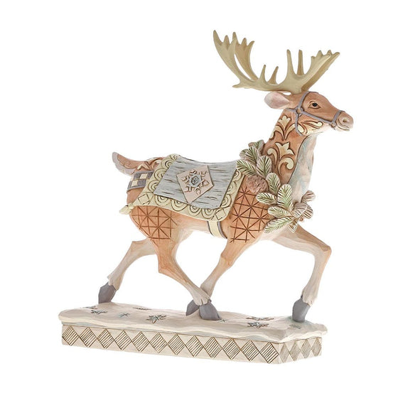 Heartwood Creek by Jim Shore Adventure Awaits - White Woodland Reindeer Figurine