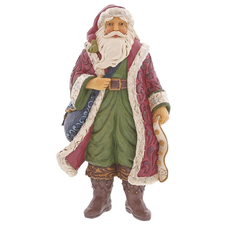 Heartwood Creek by Jim Shore Christmas Is Near - Victorian Santa with Satchel Figurine
