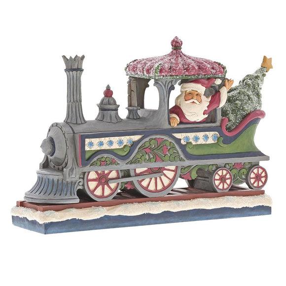 Heartwood Creek by Jim Shore Victorian Santa in Train Engine
