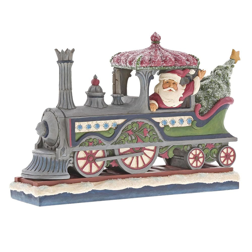 Heartwood Creek by Jim Shore Delivering A Merry Christmas - Victorian Santa in Train Figurine