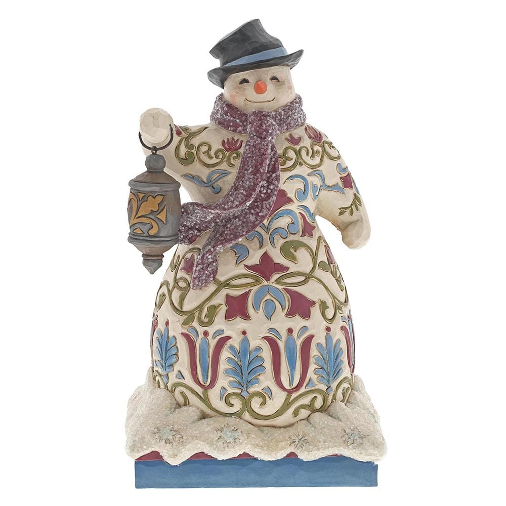 Heartwood Creek by Jim Shore Be The Light - Victorian Snowman with Lantern Figurine