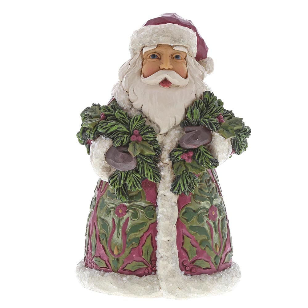 Heartwood Creek by Jim Shore Santa's Coming - Victorian Santa with Evergreen Figurine