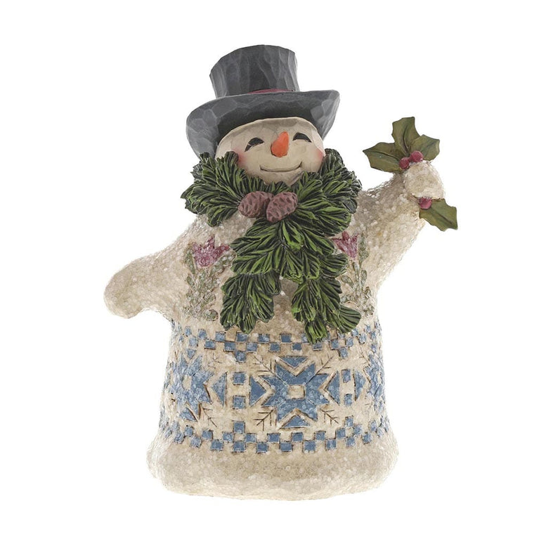 Heartwood Creek by Jim Shore Winter Greetings - Victorian Snowman with Scarf Figurine