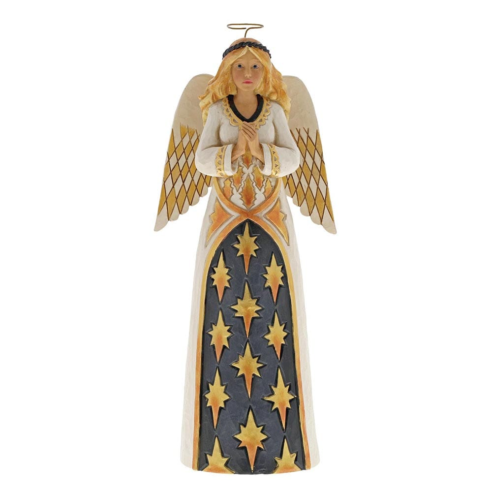 Heartwood Creek by Jim Shore Gracious Greetings - Black & Gold Angel Figurine