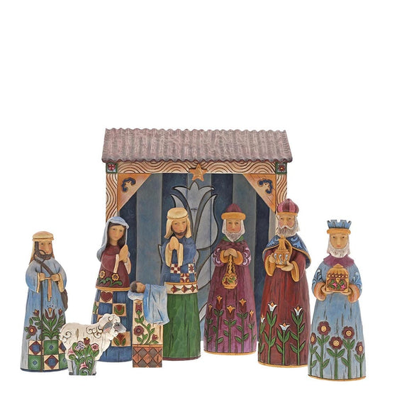 Heartwood Creek by Jim Shore Folklore Nativity Set 9 Piece Set