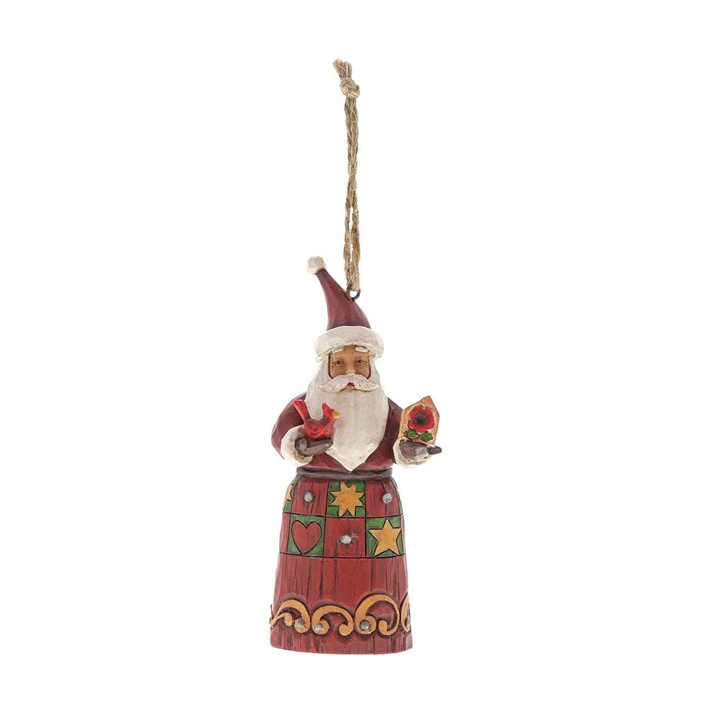 Heartwood Creek by Jim Shore Folklore Santa with Bird House - Hanging Ornament