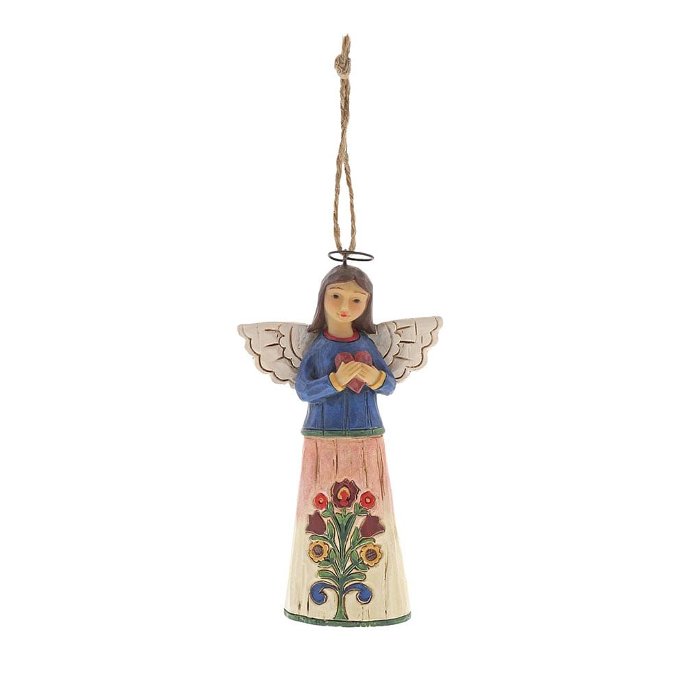 Heartwood Creek by Jim Shore Folklore Angel with Heart - Hanging Ornament