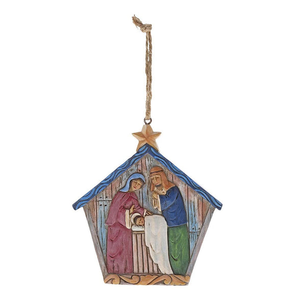 Heartwood Creek by Jim Shore Folklore Holy Family Ornament