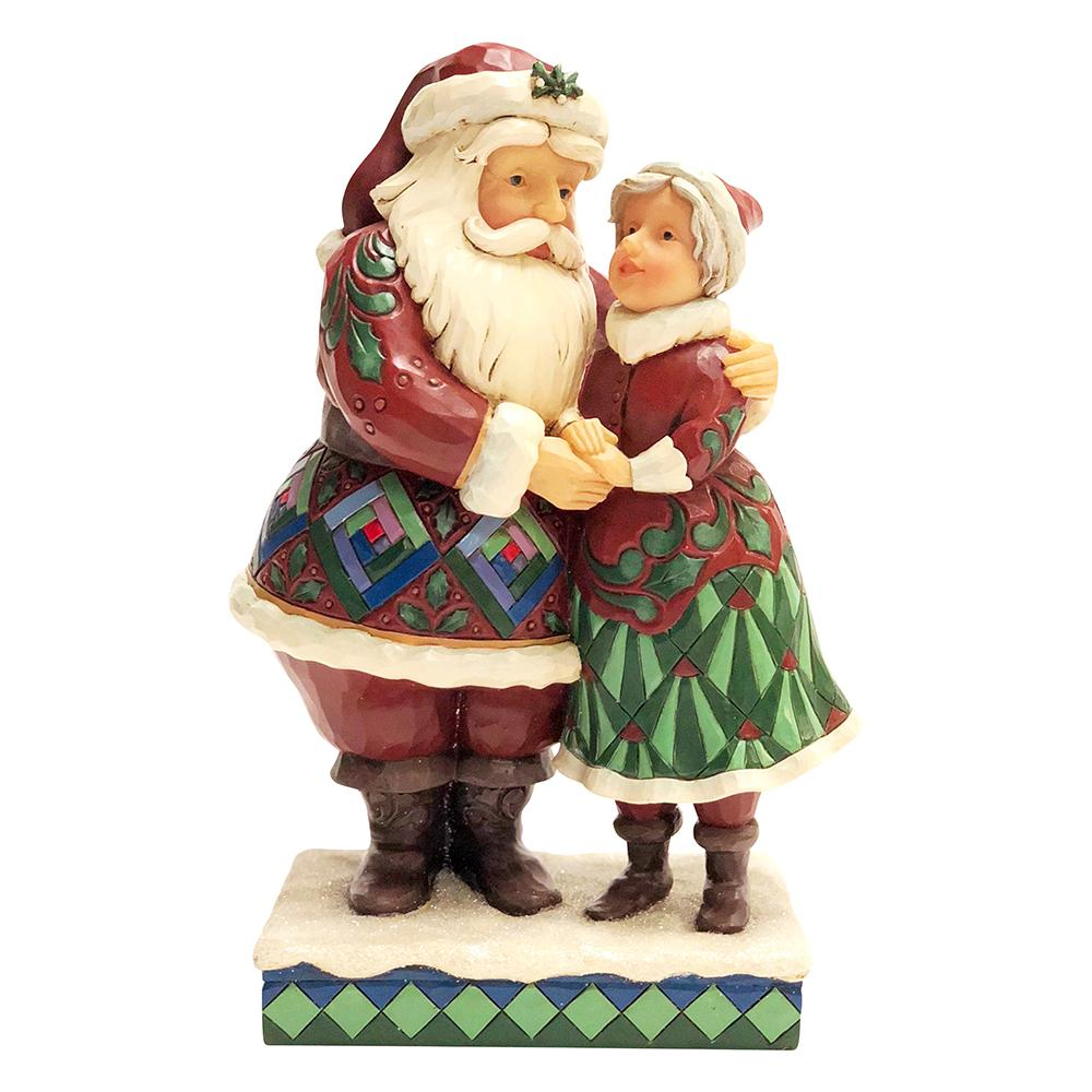 Cutest Christmas Couple - Santa and Mrs Claus Figurine - Heartwood Creek by JimShore