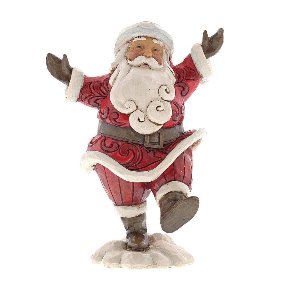 Heartwood Creek by Jim Shore Hooray For The Holidays - Pint-sized Santa Figurine
