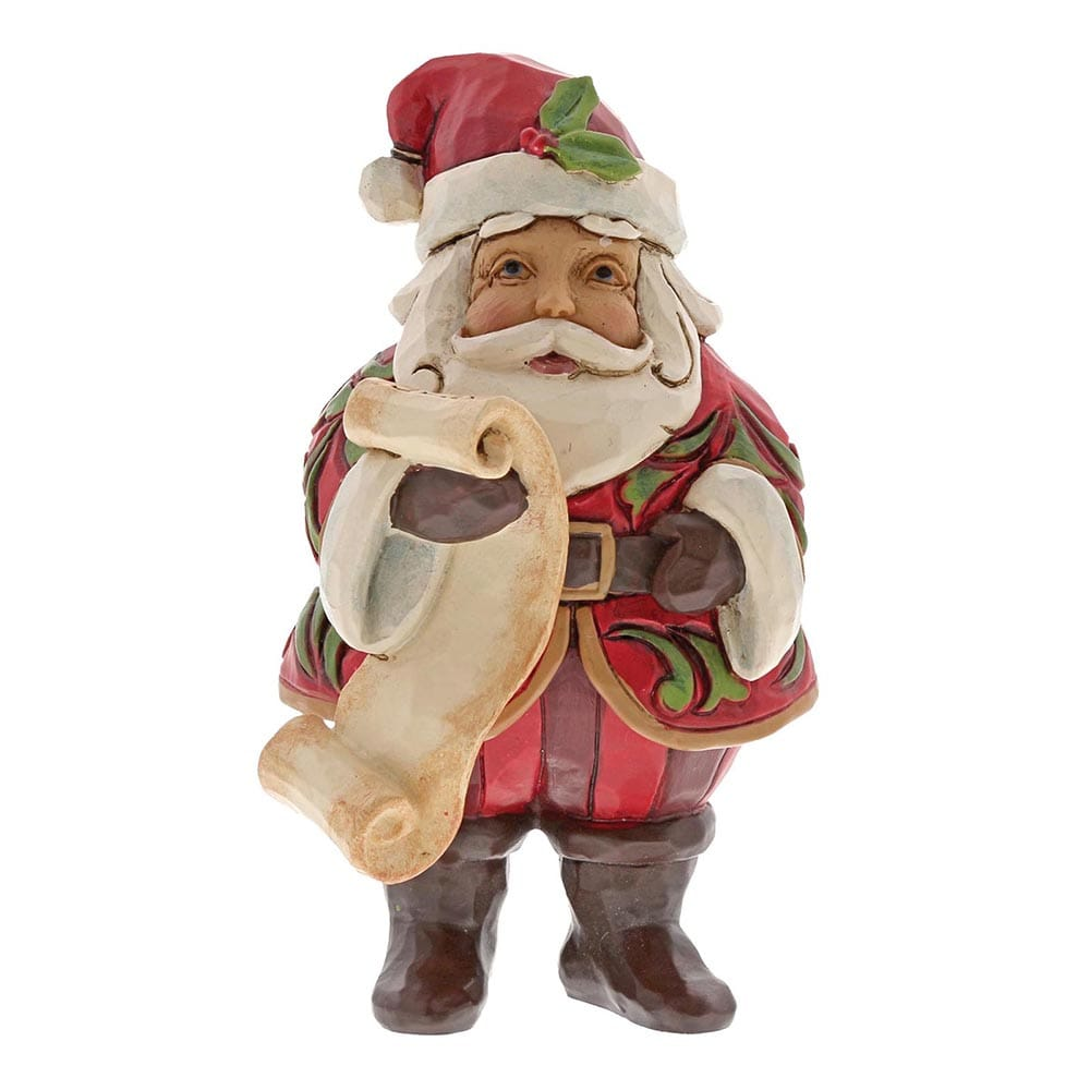 Heartwood Creek by Jim Shore Mini Santa with List Figurine