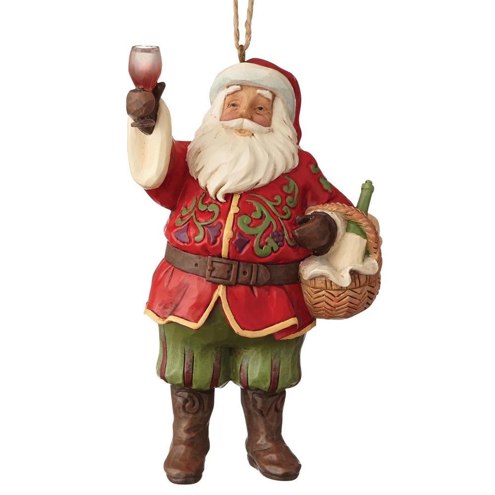 Heartwood Creek by Jim Shore Vineyard Santa - Hanging Ornament