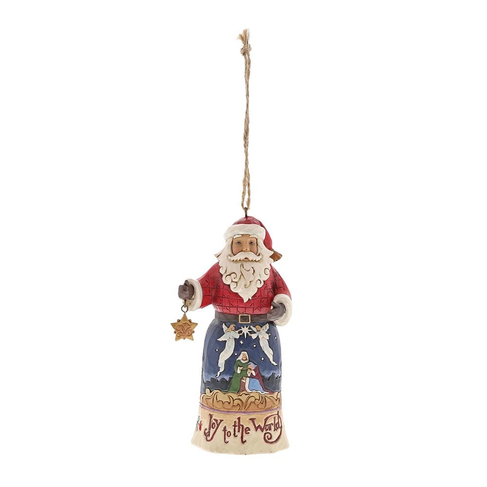 Heartwood Creek by Jim Shore Joy To The World Santa - Hanging Ornament
