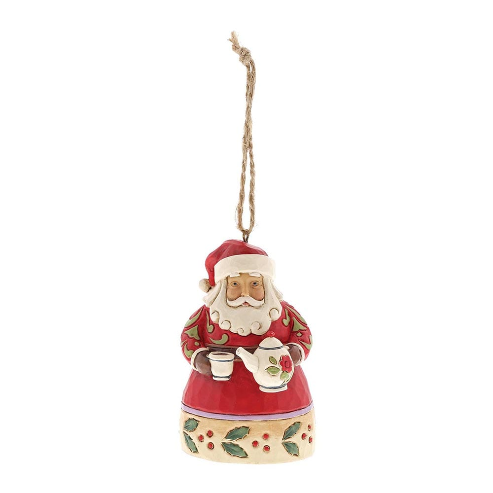 Heartwood Creek by Jim Shore Santa with Teapot - Hanging Ornament