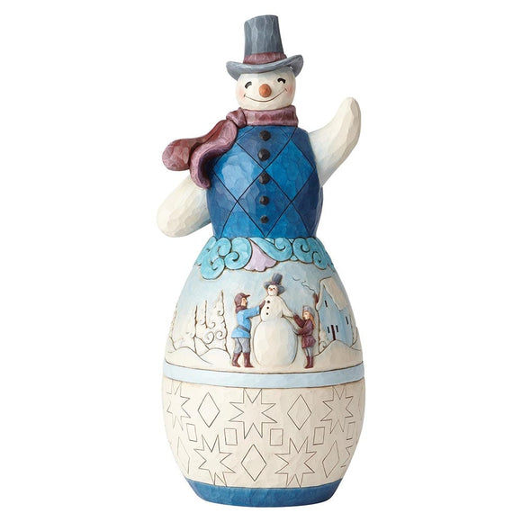 Heartwood Creek Snowman with Winter Scene Statue