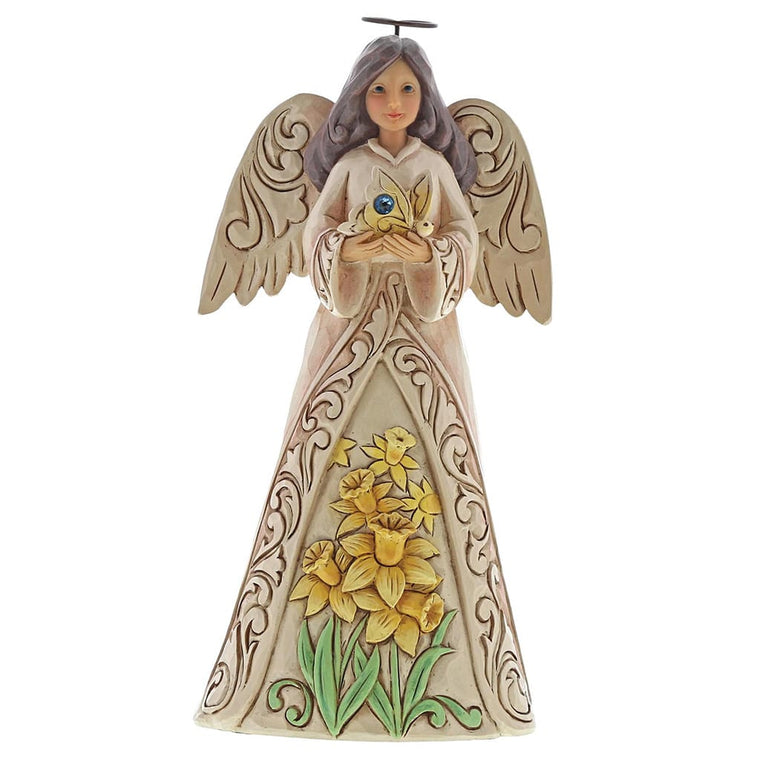 Heartwood Creek by Jim Shore March Birthday Angel Figurine