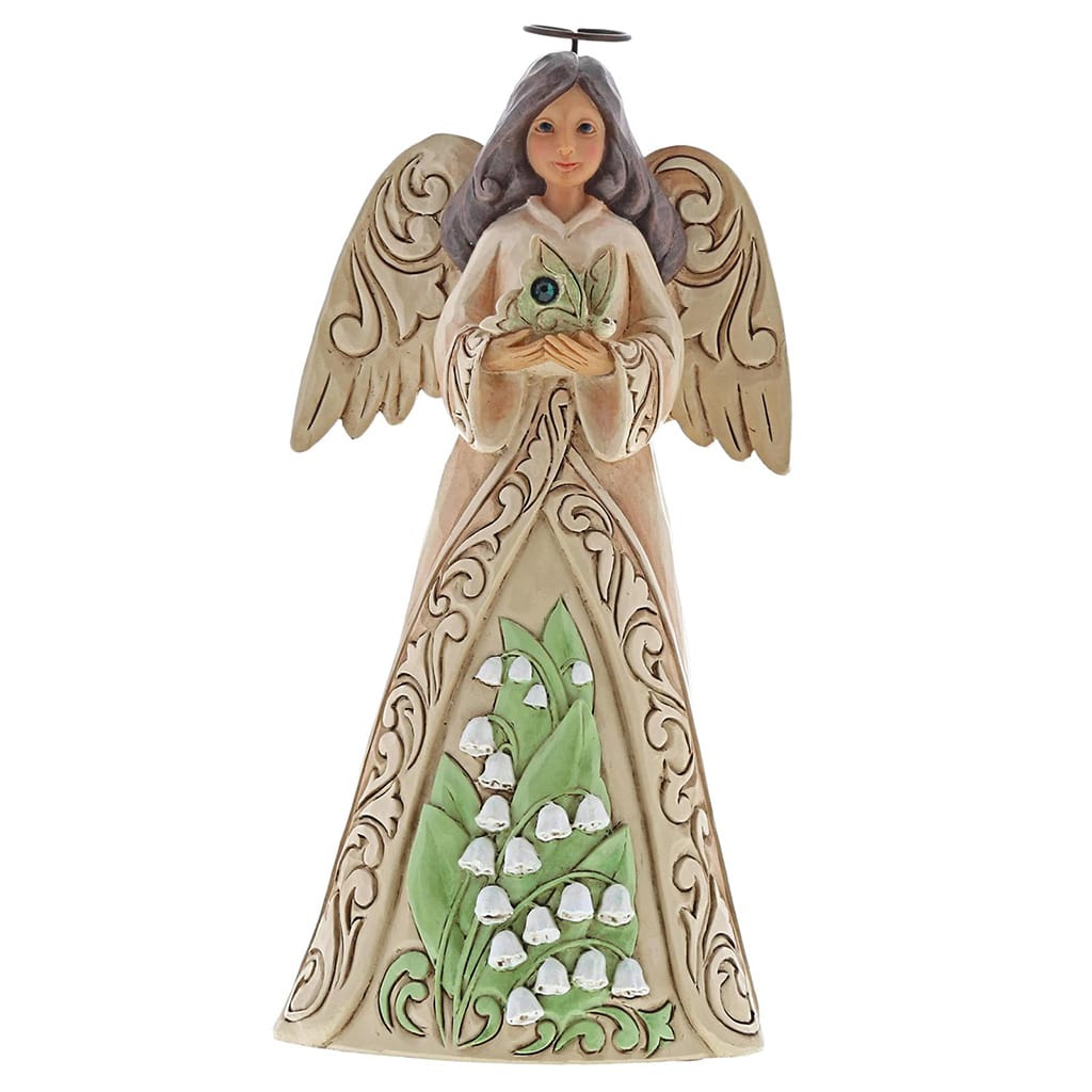 Heartwood Creek by Jim Shore May Birthday Angel Figurine