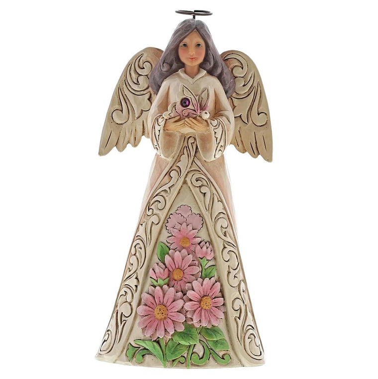 Heartwood Creek by Jim Shore October Birthday Angel Figurine