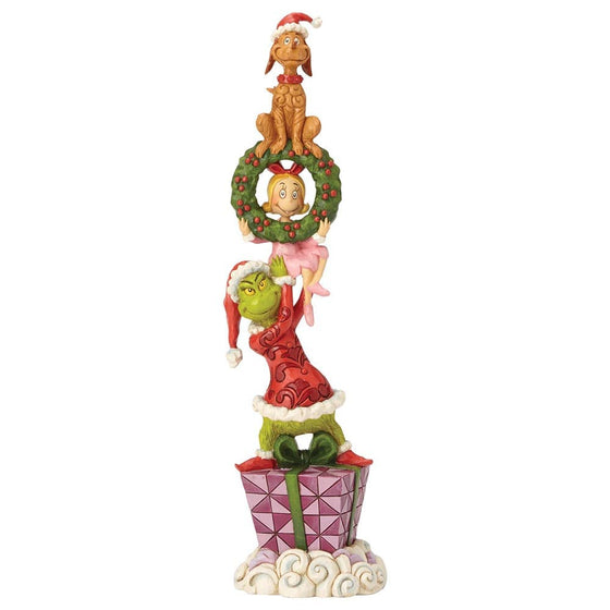 Stacked Grinch Characters Figurine - The Grinch by Jim Shore