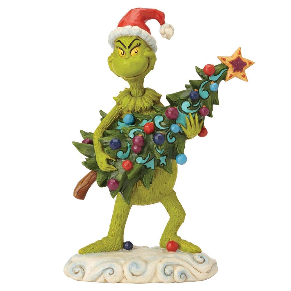 Grinch Stealing Tree Figurine - The Grinch by Jim Shore