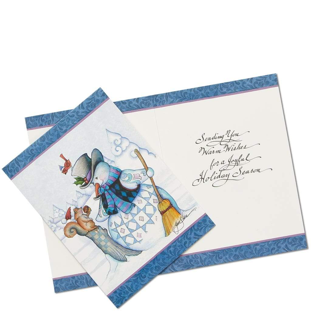 Snowman Christmas Card by Jim Shore (Set of 10)