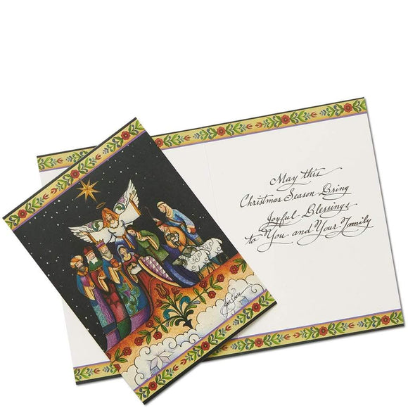 Nativity Christmas Card by Jim Shore (Set of 10)