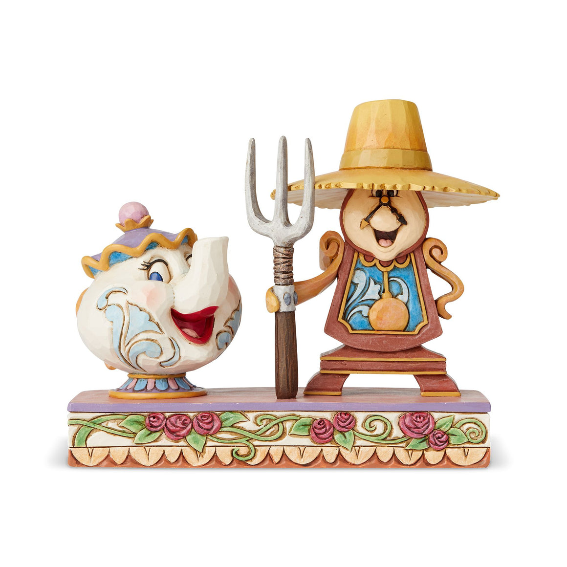 Workin Round the Clock - Mrs Potts and Cogsworth Figurine - Disney Traditions byJim Shore