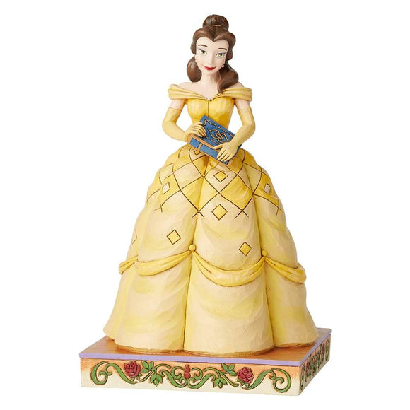 Book-Smart Beauty - Belle Princess Passion Figurine - Disney Traditions by Jim Shore