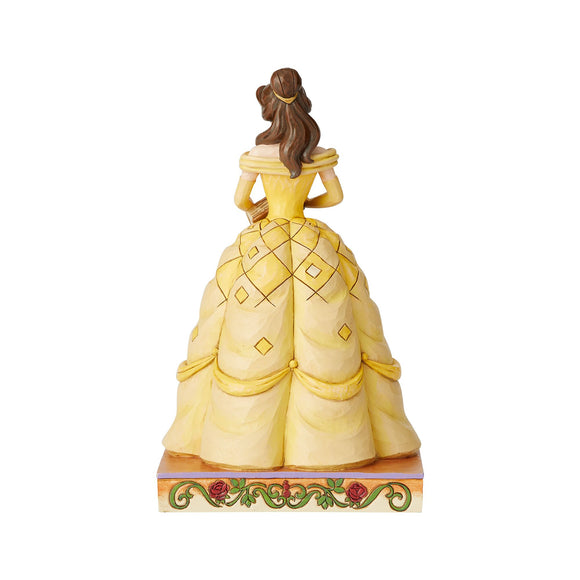 Disney Traditions by Jim Shore Book-Smart Beauty - Belle Princess Passion Figurine