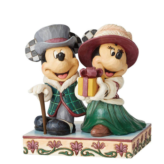 Disney Traditions by Jim Shore Elegant Excursion - Mickey and Minnie Victorian Figurine