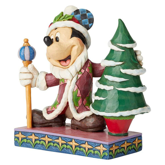 Disney Traditions by Jim Shore Jolly Ol St Mick - Mickey Mouse Father Christmas