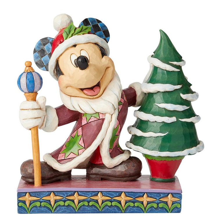 Jolly Ol St Mick - Mickey Mouse Father Christmas Figurine - Disney Traditions byJim Shore