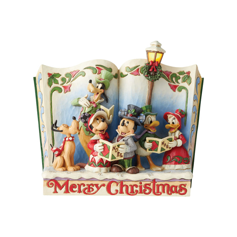 Merry Christmas - Christmas Carol Storybook Figurine - Disney Traditions by JimShore