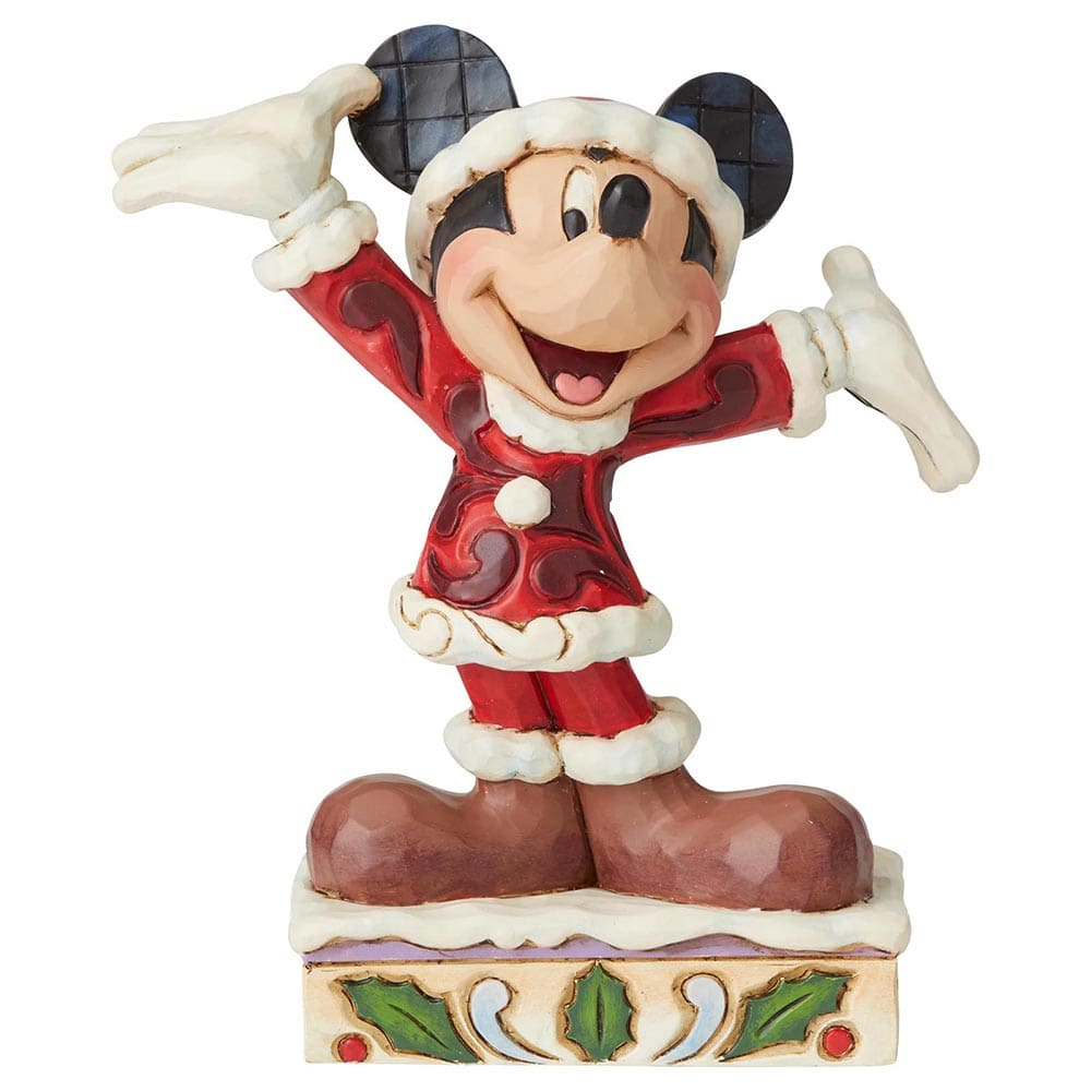 Tis a Splendid Season - Mickey Mouse Figurine - Disney Traditions by Jim Shore