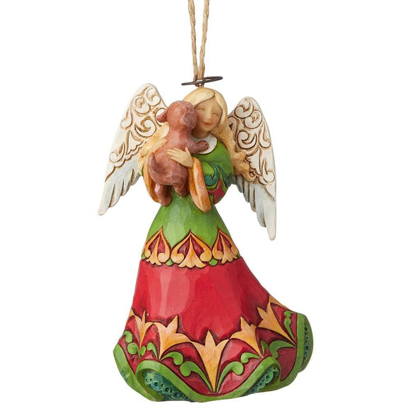 Heartwood Creek by Jim Shore Angel with Dog Ornament