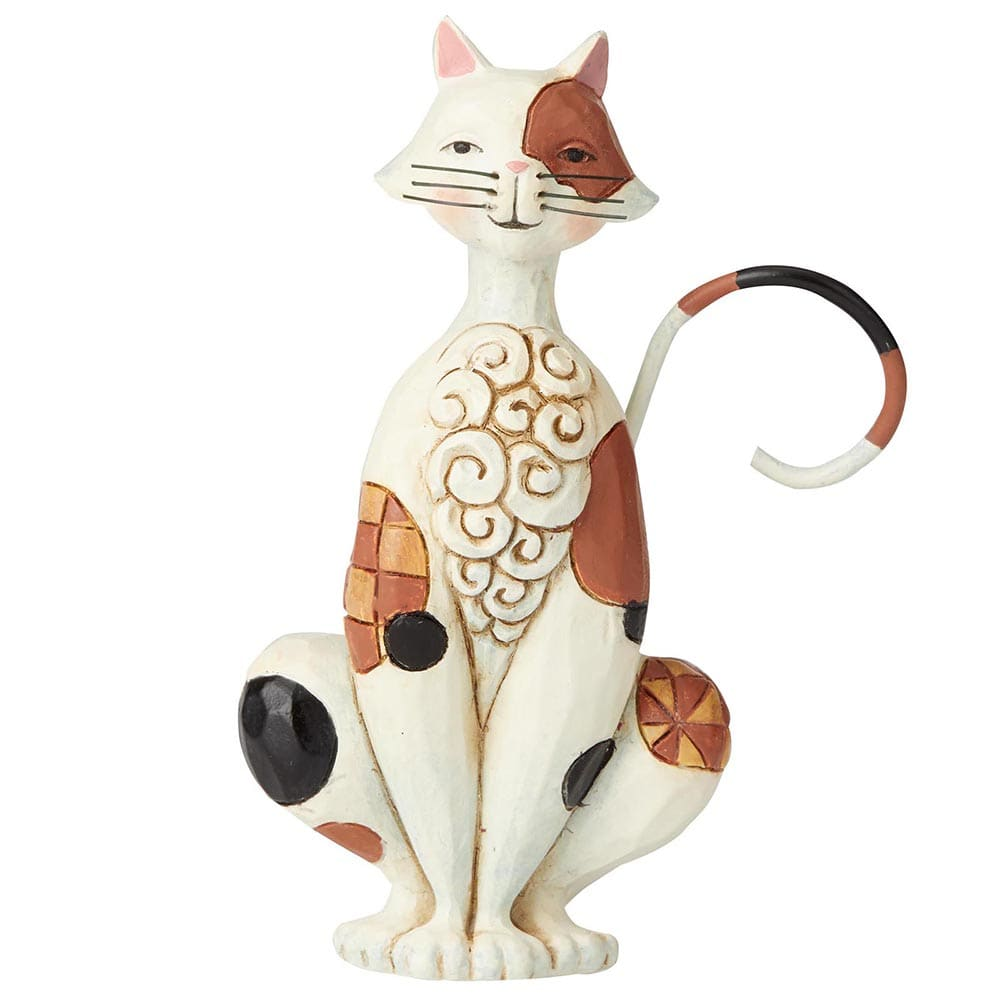 Heartwood Creek by Jim Shore Spotted Cat Mini Figurine