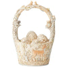 Find Your Path - White Woodland Easter Basket with 4 Egg Figurine - Heartwood Creek by Jim Shore
